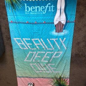 New Benefit Cosmetics beach Towel 150cmX81cm